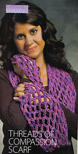 Crochet threads of compassion scarf, shawl  pattern sheet