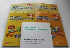 Singapore Primary Math Level 1 + Answer Booklet (US ED)-Textbook/Workbooks 1A+1B