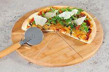 TAGLIERE ROTONDO IN LEGNO GIREVOLE PORTA PIZZA CM 35 FETTE DI PIZZA A TAGLIO