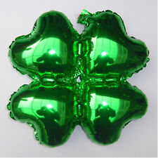 18 Inch Green Heart Four Leaf Shape Foil Balloons Make Arched Door Wedding Decor