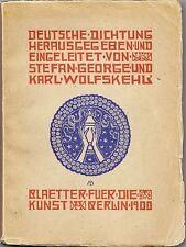 Deutsche Dichtung, Buchausstattung Melchior Lechter, Berlin 1900