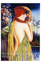 Pin Up Girl Poster 11x17 Gypsy Princess Art Deco Flapper