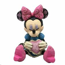 Disney Traditions Minnie Mouse With Heart Mini Figurine Ornament 7cm 4054285 New