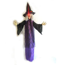 Lifesize Cute Talking Witch Hanging Halloween Party Haunted House Prop 70""