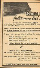 HUILE HAFA PUBLICITE ADVERTISING 1936