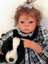 """CUTE REBORN BABY GIRL """"DENNY"""" FROM THE KIT """"DIMITRI"""" BY ADRIE STOETE"""