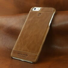 PIERRE CARDIN Genuine Leather Hard Case For Apple iPhone 6 Plus / 6s Plus Brown