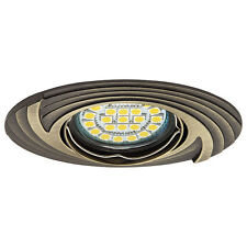 HQ Designer Ceiling recessed spotlight oval Mounting frame brass patinated FAGA