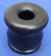 Vintage ebony hair tidy wooden dressing table pot jar Antique Edwardian Art Deco