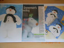 SNOWMAN TOY + SNOW DOG  + BLANKET AND CUSHION  KNITTING PATTERN