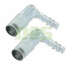 Authentic Arizer Extreme Q & V-Tower AEQ OEM Glass Elbow Adapter Piece, 2 Pack