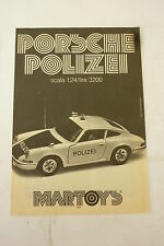 ADVERTISING PUBBLICITA' PORSCHE POLIZEI scala1:24 MARTOYS  - 1975