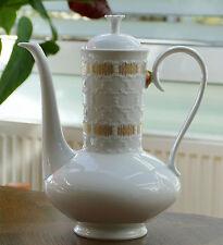 """K & A Krautheim Porzellan Kaffeekanne Modell """" Rialto """" mit Goldverzierung !!!"""