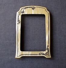ANTIQUE ART NOUVEAU PAINTED & JEWELED RHINESTONES CELLULOID PICTURE FRAME  #1