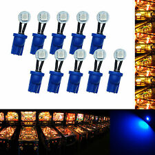 10x #555 T10 1 SMD  LED Folded Pinball Machine Light Bulb Blue AC/ DC 6.3V