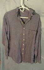 Vintage Giordano Plaid Button Front Shirt Men's sz XL 100% Cotton