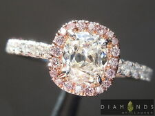 .74ct H SI1 Old Mine Brilliant Diamond Halo Ring GIA R6655 Diamonds by Lauren
