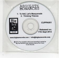 (FV703) Absolute Monarchs, To Hell Let's Masquerade - 2012 DJ CD