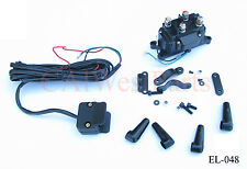 12V Solenoid Relay Contactor and Winch Rocker Thumb Switch COMBO for ATV UTV