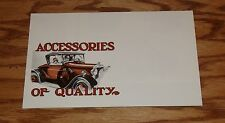 1930 1931 Ford Car Model A Accessories Fold-Out Sales Brochure 30 31