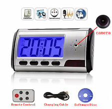 Camera Alarm Clock Micro Hidden Nanny Cam Motion Detection Mini DV DVR Video Spy