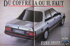 PUBLICITÉ 1985 FORD ORION DU COFFRE LÀ OU IL FAUT - ADVERTISING
