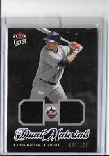 CARLOS BELTRAN 2007 ULTRA DUAL MATERIALS GAME USED JERSEY#160 ~ METS