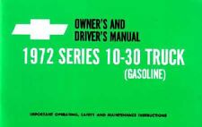 1972 Chevrolet Truck Gas Owners Manual User Guide Operator Book Fuses Fluids OEM