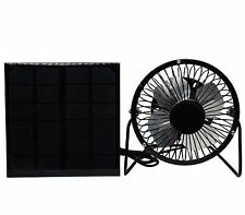 Portable 2W Solar Fan  4'' USB Mini Fan Cooling Air Ventilation