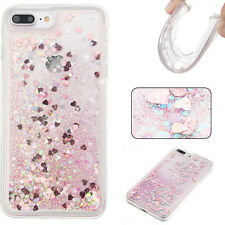 Luxury Bling Dynamic Hearts Liquid Glitter Quicksand Soft TPU Phone Case Cover
