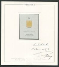 ÖSTERREICH Nr. 1 OFFICIAL REPRINT UPU CONGRESS 1984 MEMBERS ONLY!! RARE!! z1619