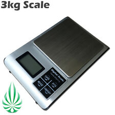 3kg Hydroponics Digital Electronic Scale  0.1g Accurate Weight W Batteries Tray
