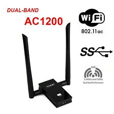 802.11 AC1200M USB3.0 2.4/5Ghz Dual Band WiFi Adapter 2x 6dBi High Gain Antenna