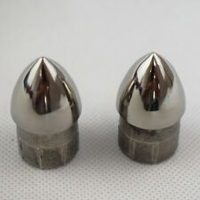 2PCS 7/8'' 316 Stainless Steel Boat Hand Rail Fitting Bullet End Marine Nice+++