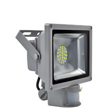 30W Day White LED SMD Flood Light with PIR Motion Sensor Outdoor Garden Lamp