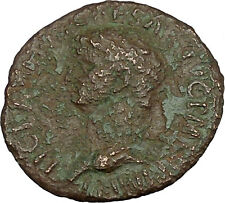Claudius 41AD Large Rare Ancient Roman Coin Minerva Athena Magic Cult  i39576