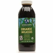Wholesome Sweeteners Organic Blackstrap Molasses 1 Quart qt 32 oz fertilizer