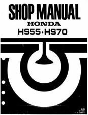 Honda Snowblower Repair Manual HS50 HS55 HS70 HS80 track wheel drive