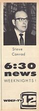 1960 Tv Ad~STEVE CONRAD~NEWS~WDEF~CHATTANOOGA TENNESSE VALLEY~