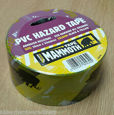 Everbuild Mammoth PVC Hazard Tape Abrasion Resistant Black Yellow