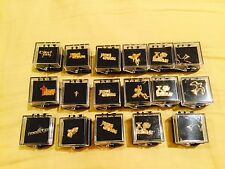 NEW LOT OF 17 RELIGIOUS PINS ANGELS. CROSS  DOVES  PRAYING HANDS ETC