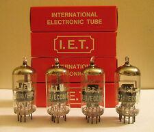 I.E.T. 6DJ8 / ECC88 NOS / NIB Vacuum Tubes / Valves Quad (vintage)