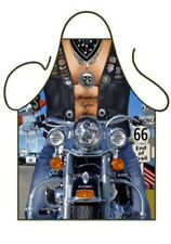 "ICONIC MENS NOVELTY APRON ""SEXY BIKER GUY"" ANGELS, SUMMERS BBQ,COSTUME,ONE SIZE"