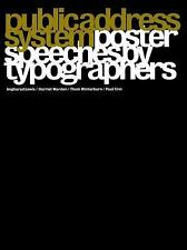Public Address System: Poster Speeches by Typographers-ExLibrary