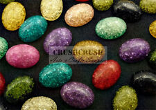 Free Shipping - 20pcs Assorted Color Oval Cabochons Flat back Gems Glue On F1102
