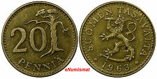 Finland 1963 S 20 Pennia FIRST YEAR FOR THIS TYPE KM# 47