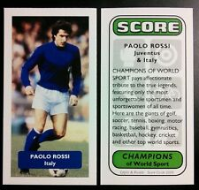 ITALIA-JUVENTUS-PAOLO ROSSI punteggio UK FOOTBALL TRADE card