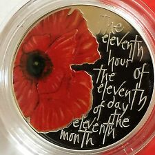 SCARCE 2013 RM Silver Proof Alderney Remembrance Day £5 Five Pound Poppy Coin