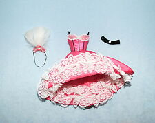 EXOTIC! Pink, White & Black Cabaret Dress Outfit Genuine BARBIE Fashion Clothes