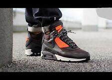 Nike Air Max 90 Sneakerboot WNTR Shoe Sz 9 684714-200 Black/Brown/HYPER CRIMSON
